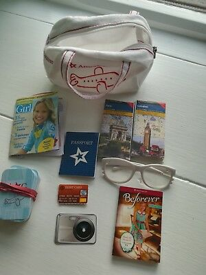 American Girl doll FLIGHT BAG + ACCESSORIES genuine Christmas stocking gift LOT