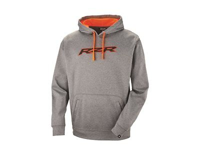 Polaris RZR Men's Vapor Pullover Hoodie in Gray/Orange - Size Large - Brand New