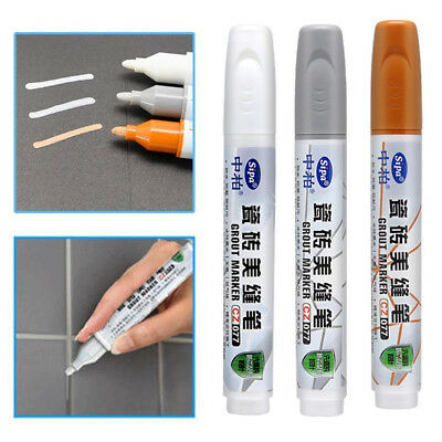 New Grout Aide Tile Marker Water-resistant Repair Wall Pen Packaging Home Charm