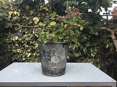 Vintage French Galvanised Steel Wash Tub, Dolly Tub