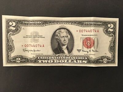 USA  2 Dollars  1963  - STAR Replacement note -- Crisp!!