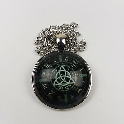 New Pagan Wheel Of The Year Necklaces Pentagram Pendant Round Wiccan Jewelry