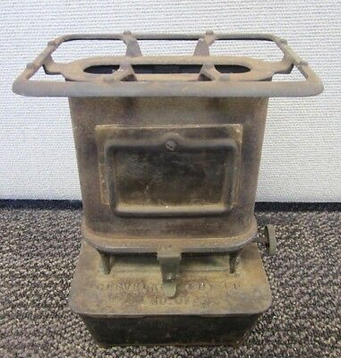 Vintage 1880's Cast Iron Sad Iron Heater Lamp Cooker Cleveland Fdy Co. No. 1