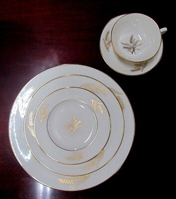 Lenox China Harvest Gold Wheat R-441 5-Piece Place Setting