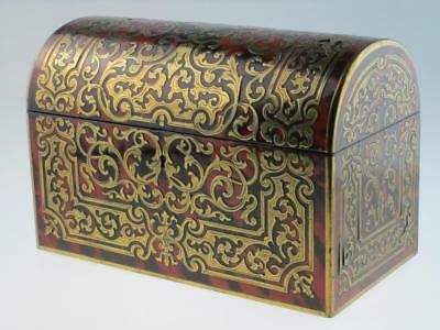 Rare Antique 19th Century Boulle Faux Tortoiseshell Box Circa 1820