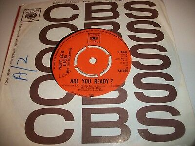 """PACIFIC GAS & ELECTRIC WITH THE BLACKBERRIES- ARE YOU READY VINYL 7"""" 45RPM co"""