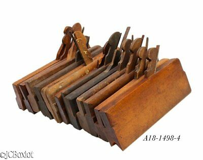 antique wood wooden MOLDING PLANE TOOL LOT H&R side beads others