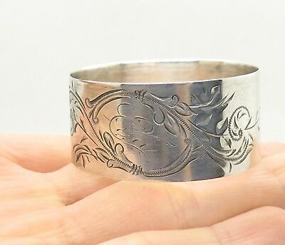 Art Nouveau Towle Sterling Silver Engraved Etched Napkin Ring Holder 8682