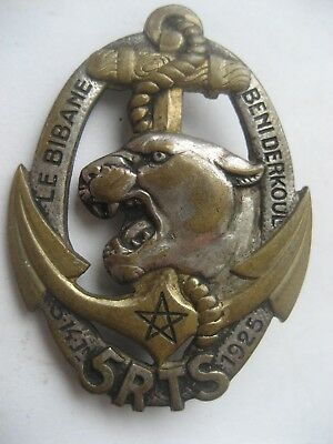 French Colonial Badge Of The 5 Regiment Tirailleurs  Senegalese