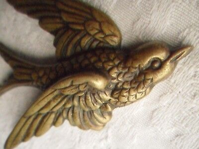 Antique/Vintage Brass Flying Swallow/Swift - Wall Decoration.
