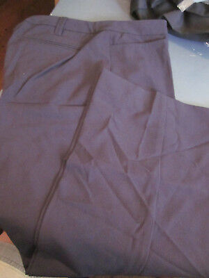 New! Lands End Womens Plain Front Wear To Work Trousers Pants Navy 2P Petite