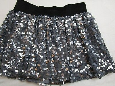 Girl size 6 Grey Silver sequin skirt skort JUSTICE Fall Winter Christmas Holiday