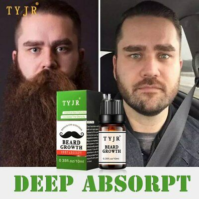 Premium Beard Growth Oil Thicker Hair Mustache Sideburns Treatment Serum