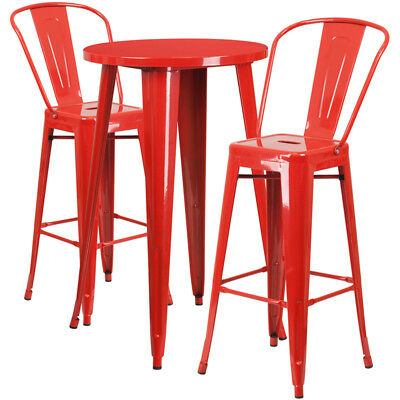 Flash Furniture Contemporary Table Chair Set In Red CH-51080BH-2-30CAFE-RED-GG