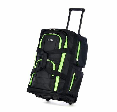 Travel Bag Luggage Wheels Set Rolling Duffel Carry On Suitcase Wheeled Trolley