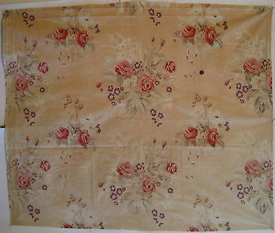 Vintage Beautiful 1930's French Floral Cotton Print Fabric (8839)