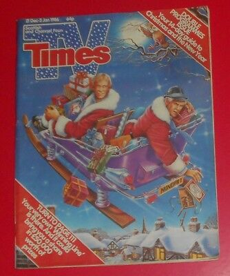 Tv Times 21 Dec To 3 Jan 1985/ 86, Christmas & New Year  ,double Issue , Minder