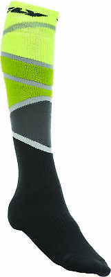Fly Racing 350-0425S Mx Socks Thick Lime Green/black Sm/md