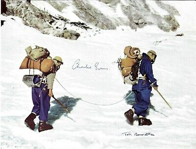 Tom Bourdillon & Charles Evans Hand Signed Mount Everest 1953 Picture