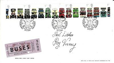 Reg Varney On The Buses Hand Signed Bus London Special Postmark Autograsphed FDC