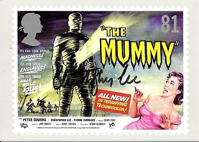 Christopher Lee Hand Signed The Mummy Autographed PHQ