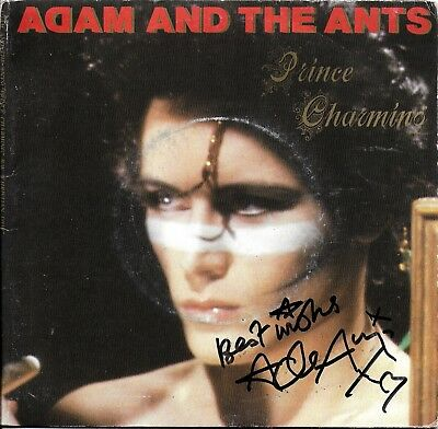 "Adam & The Ants Original Hand Signed 7"" Prince CHarming Autographed Vinyl Single"