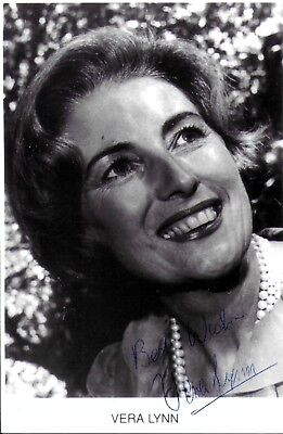Dame Vera Lynn Hand Signed Autographed Photo Forces Sweetheart