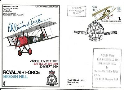 Robert (Bob /RR) Stanford Tuck Hand Signed RAF Autographed Battle of Britain FDC