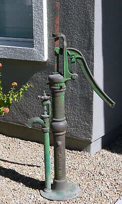 Large Antique DEMPSTER MILLS Cast Iron Hand Well Water Pump Farm Garden Windmill