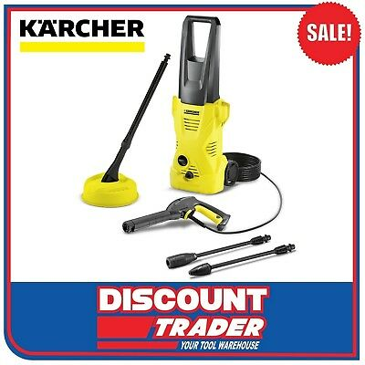 Karcher High Pressure Washer Cleaner 1.4kW 1600PSI K2 Plus Home Kit 1.602-222.0
