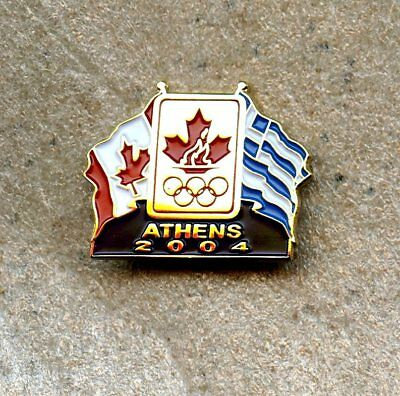 NOC Canada 2004 Athens Greece Flags OLYMPIC Games Pin