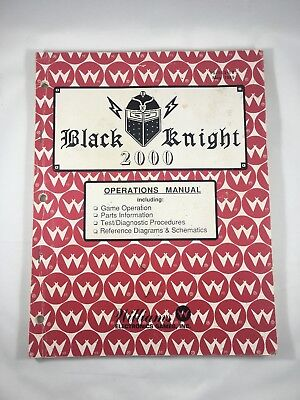 Black Knight 2000 **RARE** May 1989 Operations Manual GREAT CONDITION
