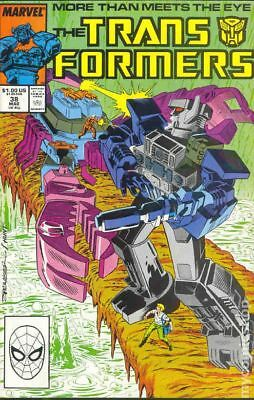 Transformers (Marvel) 1st Printing #38 1988 FN Stock Image