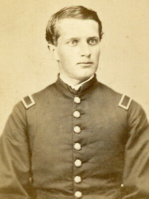 Civil War 1862-63 Cdv Union Officer By Jacobs Of  New Orleans
