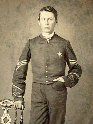 Civil War Cdv Zouave Sergeant Xxth Corps Army Of The Cumberland 1864-65