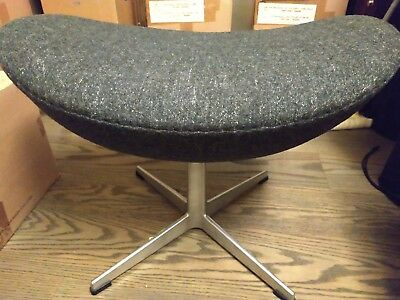 authentic Fritz Hansen Egg Footstool gray wool Arne Jacobsen Denmark MADE tag pk