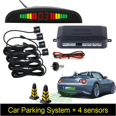 Reversing Parking Radar System Car Vehicle 4 Sensors Audio Buzzer Sound Alarm