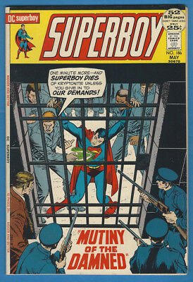 Superboy 186 VF+ 1972 DC 52 Page  Dial H for Hero