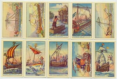 MURRAY - 1940 : The Story Of Ships Complete Set (50) Cigarette Cards