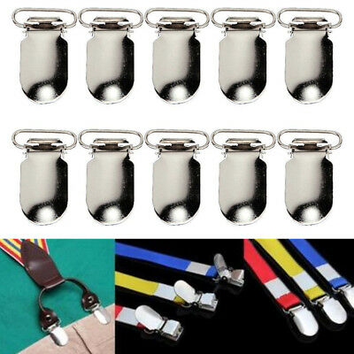 10 Pcs Silver Insert Pacifier Metal Holder Suspender Clips Mitten Tool For Craft