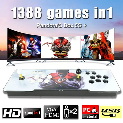 1388Games in Arcade Game Retro Console All In One Plug & Play Single Two Players