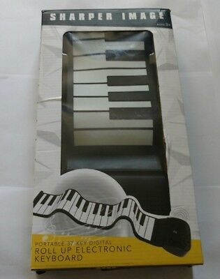 NIB*Sharper Image Portable 37-Key Digital Roll Up Electronic Keyboard*SHIPS FREE