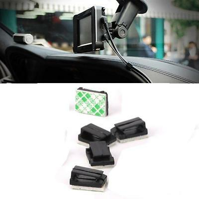 10Pcs/Bag Car Wires Fixed Clips Data Cord Tie Cable Mount Self-adhesive SS #