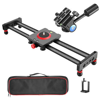 Neewer Camera Slider Carbon Fiber Dolly Rail with Tripod Handle Ball Head