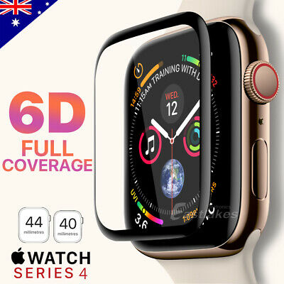 For Apple Watch 4 44 &40 mm 6D Curved Tempered Glass FULL COVER Screen Protector