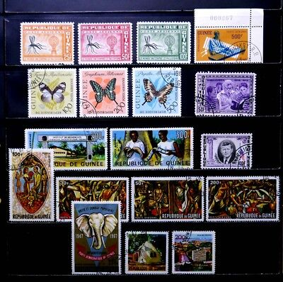 Guinea: 1962-7 Airmail Stamp Collection Mostly Complete Sets