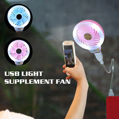 7B3E Mini Electric Fan LED Fan USB Fan SO2 Photo Props Portable Creative Beauty