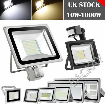 LED Floodlight 10W 20W 30W 50W 100W 200W 300W 500W PIR Sensor Outdoor Spotlight