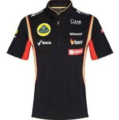POLO SHIRT Tech Damen Zip Formel Formula 1 Lotus F1 Sponsor 2014/5 AT