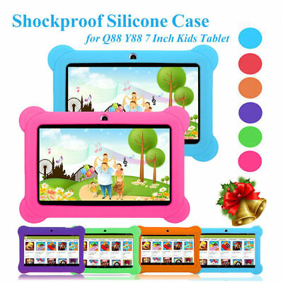 For 7 inch Q88 Tablet Universal Silicone Gel Rubber Shockproof Case Cover in UK